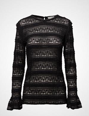 Second Female T-skjorte, Solange Blouse T-shirts & Tops Long-sleeved Svart SECOND FEMALE