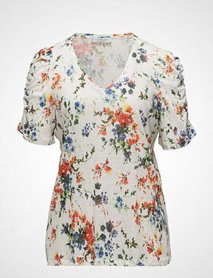 Violeta by Mango T-skjorte, Flowers Linen-Blend T-Shirt