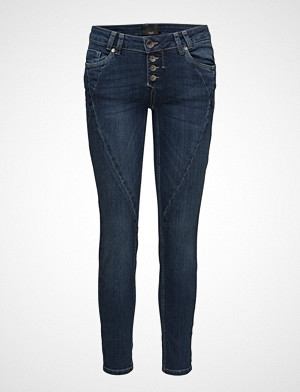 Rosita Midtwaist Ankle Skinny Jeans Blå Pulz Jeans