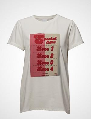 Won Hundred T-skjorte, Alivia Print T-shirts & Tops Short-sleeved Hvit WON HUNDRED