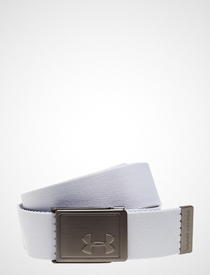 Under Armour belte, Ua Men'S Webbing 2.0 Belt Belte Hvit UNDER ARMOUR