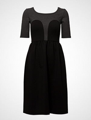R/H Studio kjole, Mickey Tee Dress Knelang Kjole Svart R/H Studio