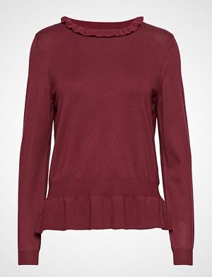 Saint Tropez genser, Peplum Sweater Strikket Genser Rød SAINT TROPEZ