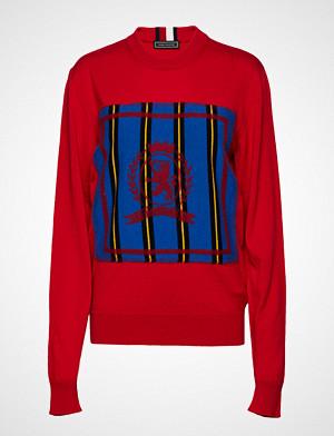 Hilfiger Collection genser, Hc Crest Needle Punch Sweater Strikket Genser Rød HILFIGER COLLECTION