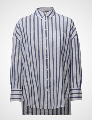 Tommy Jeans skjorte, Tjw Over D Stripe Shirt Langermet Skjorte Blå TOMMY JEANS