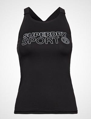 Superdry Sport singlet, Active Fitted Vest T-shirts & Tops Sleeveless Svart SUPERDRY SPORT
