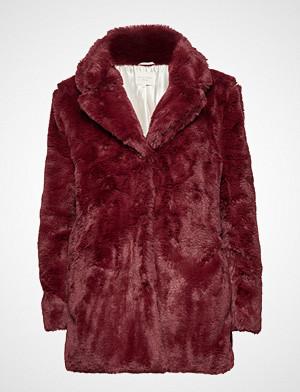 Lollys Laundry Emma Jacket Outerwear Faux Fur Rød Lollys Laundry