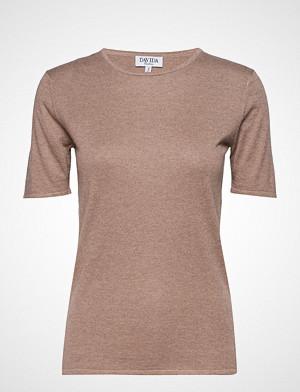 Davida Cashmere T-skjorte, T-Shirt T-shirts & Tops Short-sleeved Rosa DAVIDA CASHMERE