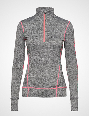 Superdry Sport T-skjorte, Performance Reflective Half Zip T-shirts & Tops Long-sleeved Grå SUPERDRY SPORT