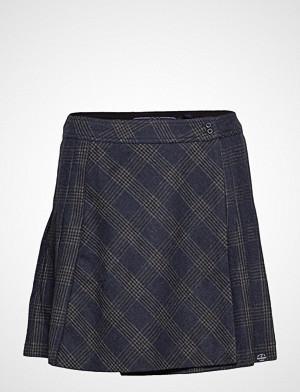 Superdry Josie Pleated Tweed Skirt Kort Skjørt Svart SUPERDRY