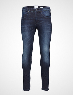 Lindbergh collegegenser, 5 Pocket Stretch Orlando Blue Slim Jeans Blå LINDBERGH