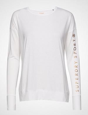 Superdry Sport T-skjorte, Active Studio Luxe L/S Top T-shirts & Tops Long-sleeved Hvit SUPERDRY SPORT