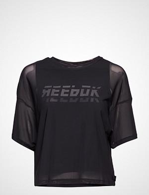 Reebok T-skjorte, Wor Myt Mesh Layer Piece T-shirts & Tops Short-sleeved Svart REEBOK