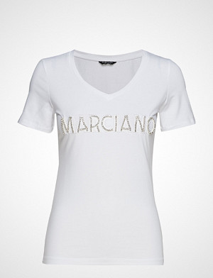 Marciano by GUESS T-skjorte, Logo Patch Crystal Tee T-shirts & Tops Short-sleeved Hvit MARCIANO BY GUESS