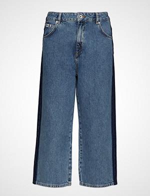 Superdry bukse, Phoebe Wide Leg Vide Bukser Blå SUPERDRY