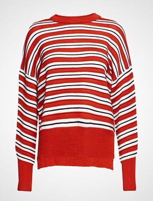 Dagmar genser, Iren Stripe Strikket Genser Rød DAGMAR