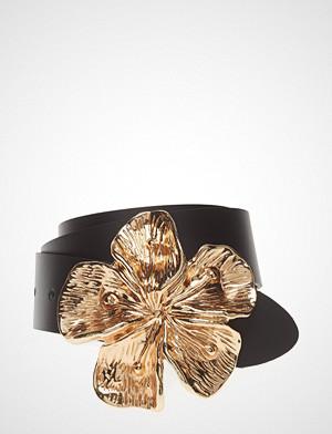 Mango belte, Flower Buckle Leather Belt Belte Svart MANGO