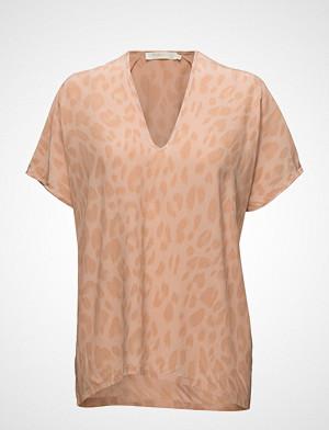 Rabens Saloner T-skjorte, Bright Leopard Blouse