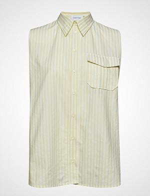 Calvin Klein bluse, Stp Police Pkt Shirt Ns Bluse Ermeløs Gul CALVIN KLEIN