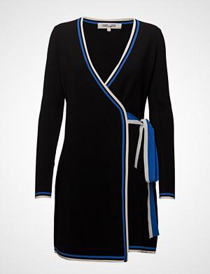 Diane von Furstenberg genser, L/S Wrap Sweater Drs Strikket Genser Svart DIANE VON FURSTENBERG