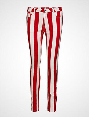 Calvin Klein bukse, Mid Rise Skinny Stripe Pant Stramme Bukser Stoffbukser Rød CALVIN KLEIN JEANS