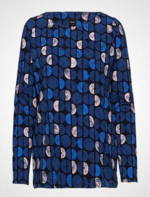 Nanso Ladies Shirt, Puolikas Bluse Langermet Blå NANSO