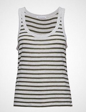 T by Alexander Wang singlet, Striped Slub Jersey Tank