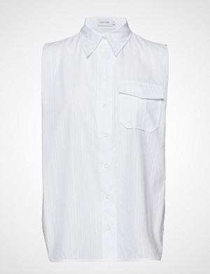 Calvin Klein bluse, Stp Police Pkt Shirt Ns Bluse Ermeløs Hvit CALVIN KLEIN