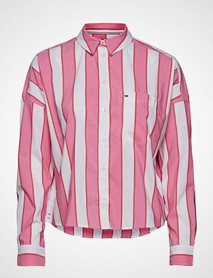 Tommy Jeans skjorte, Tjw Cropped Boxy Multi Shirt Langermet Skjorte Rosa TOMMY JEANS