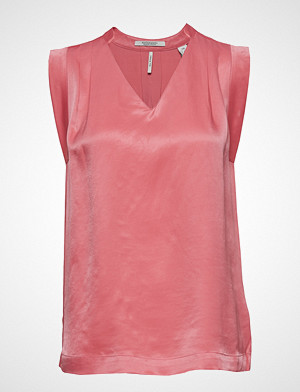 Scotch & Soda bluse, Pleated Sleeveless Top In Viscose Quality Bluse Ermeløs Rosa SCOTCH & SODA