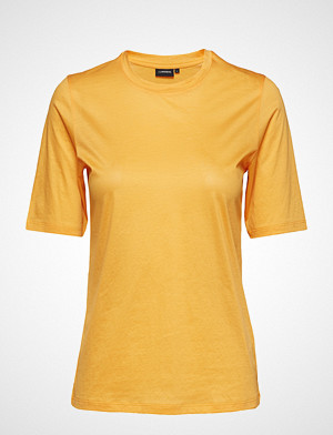 J.Lindeberg T-skjorte, Charlotte Feathery Cotton T-shirts & Tops Short-sleeved Gul J. LINDEBERG