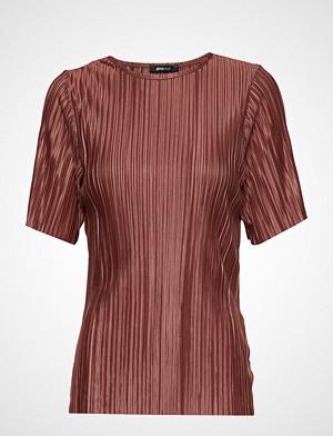 Gina Tricot bluse, Lydia Pleated Top Bluse Kortermet Rød GINA TRICOT