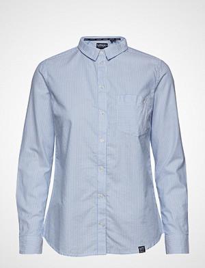 Superdry skjorte, Oxford Stripe Shirt Langermet Skjorte Blå SUPERDRY