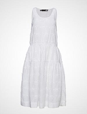 Love Moschino kjole, Love Moschino-Dress Knelang Kjole Hvit LOVE MOSCHINO