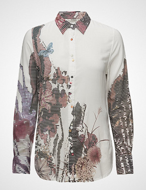 Desigual skjorte, Cam Fragancy Langermet Skjorte Hvit DESIGUAL