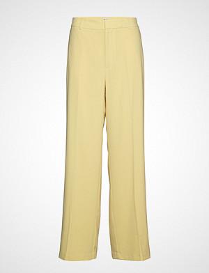 Filippa K bukse, Hutton Crepe Trouser Bukser Med Rette Ben Gul FILIPPA K