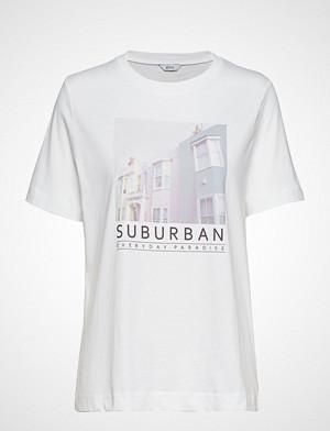Envii T-skjorte, Enbeverly Ss Tee Print 5310 T-shirts & Tops Short-sleeved Hvit ENVII