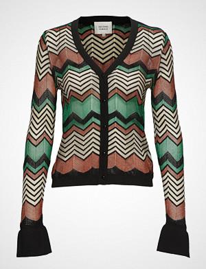 Second Female kardigan, Wave Knit Cardigan Strikkegenser Cardigan Multi/mønstret SECOND FEMALE