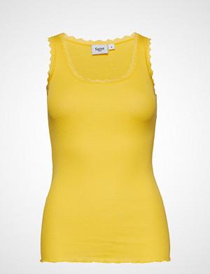 Saint Tropez singlet, Rib Tank Top With Lace - Basic T-shirts & Tops Sleeveless Gul SAINT TROPEZ