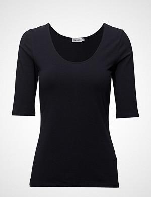 Filippa K T-skjorte, Cotton Stretch Scoop Neck Top T-shirts & Tops Short-sleeved Blå FILIPPA K
