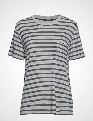 T by Alexander Wang T-skjorte, New Striped Slub - Ss Top T-shirts & Tops Short-sleeved Grå T BY ALEXANDER WANG