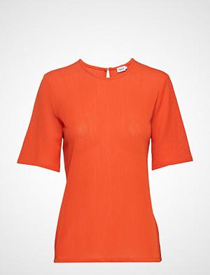 Filippa K T-skjorte, Mesh Tee T-shirts & Tops Short-sleeved Oransje FILIPPA K