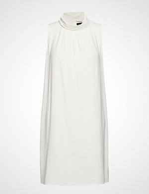 Sand kjole, Crepe Satin Back - Prosa Knelang Kjole Hvit SAND