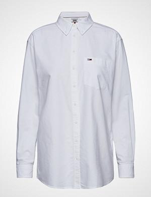 Tommy Jeans skjorte, Tjw Tommy Classics S Langermet Skjorte Hvit TOMMY JEANS