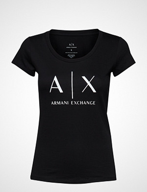 Armani Exchange T-skjorte, Ax Woman T-Shirt T-shirts & Tops Short-sleeved Svart ARMANI EXCHANGE
