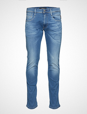 Replay collegegenser, Anbass Hyperflex Laserblast Slim Jeans Blå REPLAY