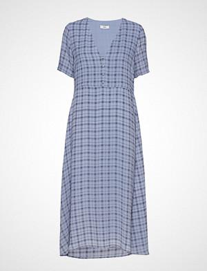 Ensoho Ss Dress Aop 6622 Knelang Kjole Blå ENVII