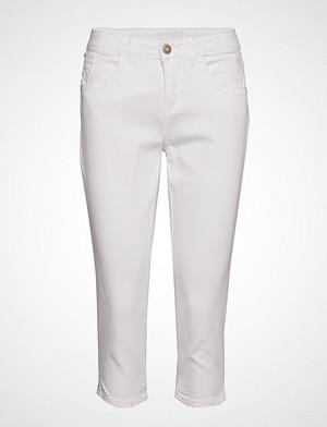 Cream bukse, Vita Capri Twill Jeans - Regular Fi Bukser Med Rette Ben Hvit CREAM