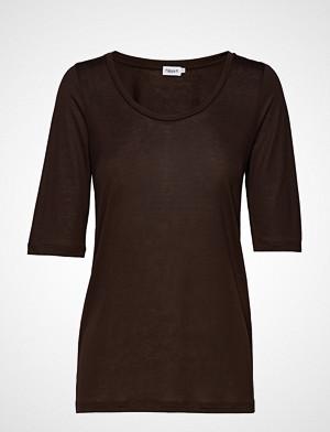 Filippa K T-skjorte, Tencel Scoop-Neck Tee T-shirts & Tops Short-sleeved Brun FILIPPA K