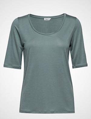 Filippa K T-skjorte, Tencel Scoop-Neck Tee T-shirts & Tops Short-sleeved Blå FILIPPA K